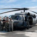 Military Helicopter Makes Repair Stop At Perkins Field