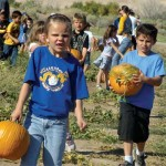 Bowler Students Visit The Pumpkin Patch