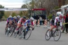 Street bicycle racers blaze around the Criterium stage course near Mack Lyon Middle School in Overton on Saturday as part of the two-day Valley of Fire Stage Race event. PHOTO BY WESLIE STRATTON/Moapa Valley Progress.