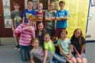 Top fourth grade readers from the Accelerated Reading Program who participated in a pizza party May 14. PHOTO BY WESLIE STRATTON/Moapa Valley Progress.