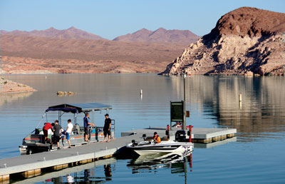 Northshore rd lake mead visitation up but echo bay for Fishing lake mead from shore