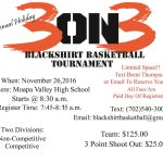 3 on 3 Blackshirt Basketball Tournament