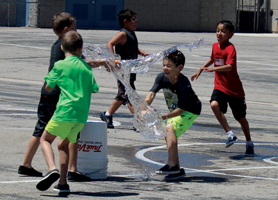 Perkins Students Revel In Water Games
